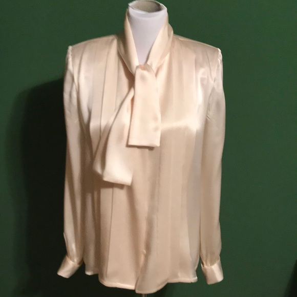 659c680b099ed0 W. Beresford Tops | Cream Silk Charmeuse Blouse | Poshmark